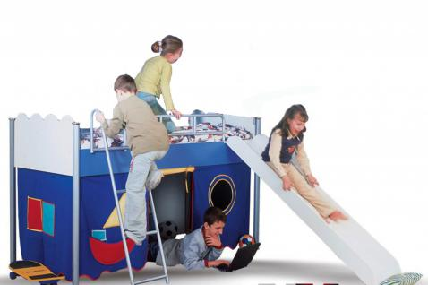 Kinderbett-Hochbett Playhouse mit Rutsche