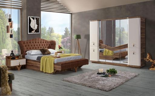 Schlafzimmer Panama mit Stauraumbett Walnuss Optik