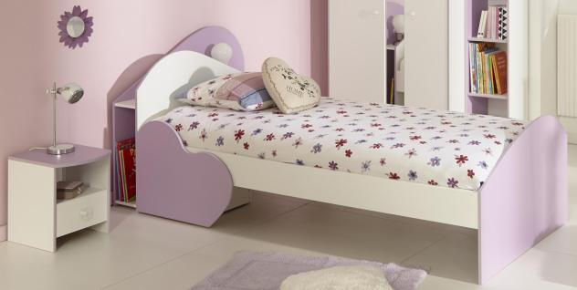 Kinderbett Sumi 2-teilig in Weiß-Lila