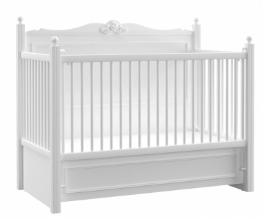 Almila Babybett Lory in Weiß 70x130
