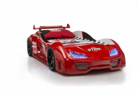 Autobett GT 999 mit Sound + Fernbedienung rot