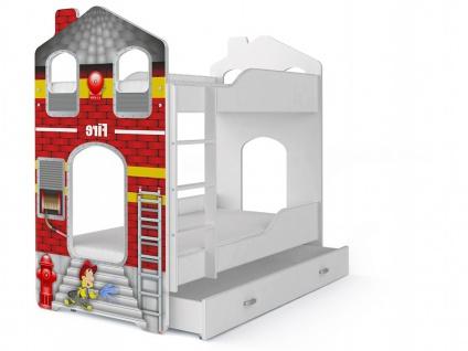 Etagenbett Fairy Feuerwehr mit Matratze 80x180