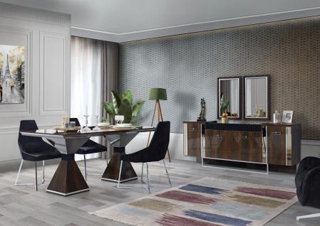 Esszimmer Ruiz Tischgruppe mit 4 Stühlen & Sideboard