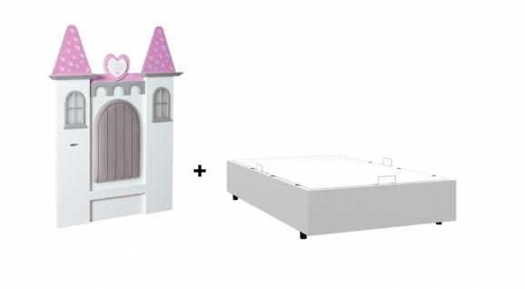 Mädchen Stauraumbett Prinzessin Castle 100x200