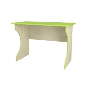 Neman Schreibtisch 110x62 Combi Limegrün Birke Optik