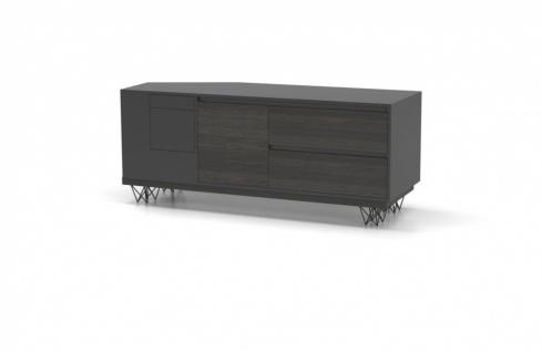 Design Büroschrank Xenon in Holz Optik Grau
