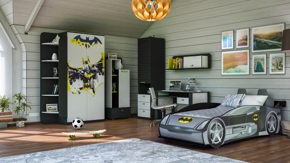 Kinderzimmer Set mit Autobett Batman 8-teilig