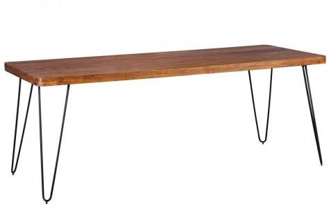 Massivholz Sheesham Esstisch 200x80x76 Küchentisch