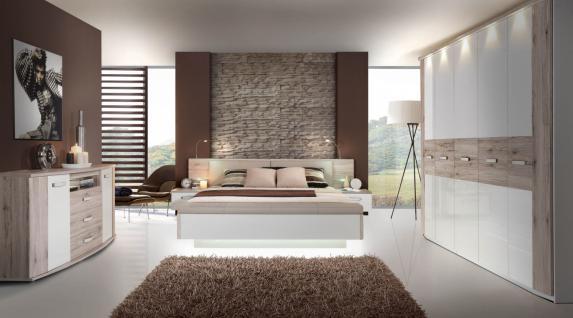 Schlafzimmer in Sandeiche Weiß Tuva 3-teilig