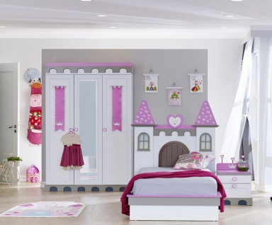 Almila Kinderzimmer komplett Prinzessin Castle 3-teilig