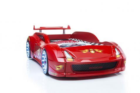 Autobett Racer-Fivex in Rot mit Fernbedienung