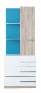 Bücherregal Born Blue mit Schubladen & Tür