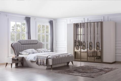 Schlafzimmer Kombination 5-teilig Laura in Weiß