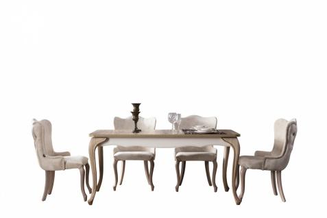 Esstisch ausziehbar mit 6 Stühlen Balat in Creme