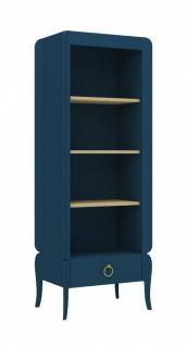 Design Bücherregal Elegant Blue mit Schubkasten