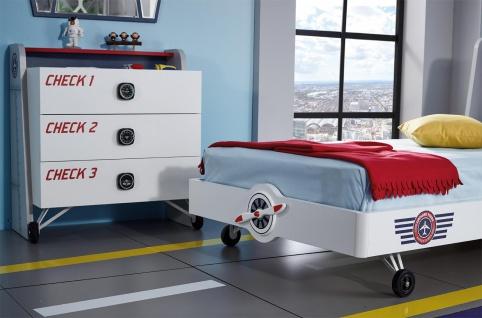 Kinderbett Pilot und Flugzeug Design 100x200 - Vorschau 2