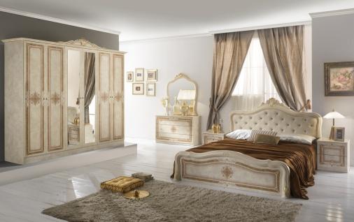 Schlafzimmer in Beige Christina mit 6-türigem Schrank
