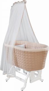 Cilek Baby White Himmel-Babybettwiege mit Bettwäsche