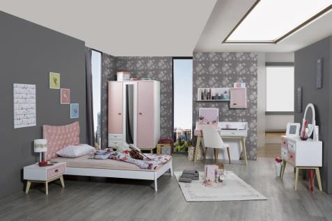 Titi Kinderkleiderschrank Diane 3-türig in Pink - Vorschau 2