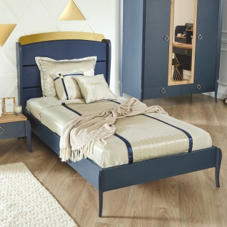 Almila Design Jugendbett Elegant Blue 100x200 cm