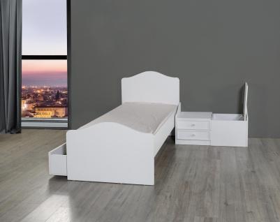Babybett in Weiß Goldi mitwachsend 80x130-180 - Vorschau 2