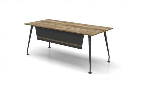 Schreibtisch Holz Optik Grau Dinamo 180x80