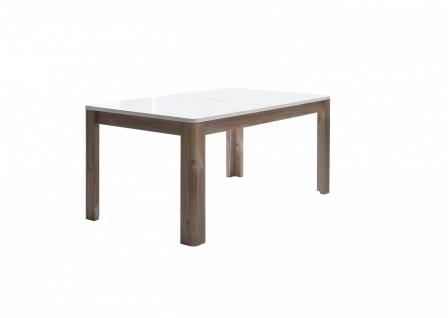 Esstisch in Weiß Holz Optik Buga ausziehbar