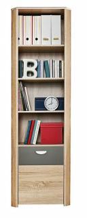 Bücherregal Kevin mit Tür und 6 Fächern