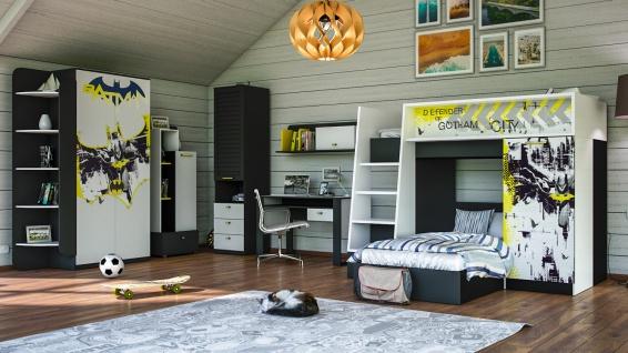 Jugendzimmer Set mit Etagenbett Batman 7-teilig