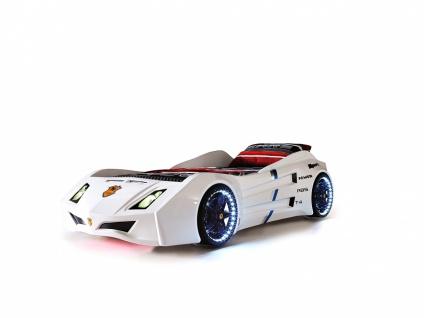 Titi Autobett Cat Garage Car in Weiß mit Beleuchtung