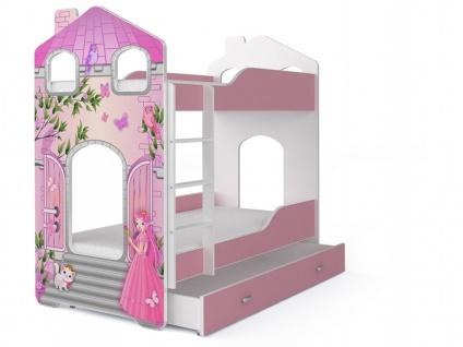 Etagenbett Fairy mit Matratze Prinzessin 80x180