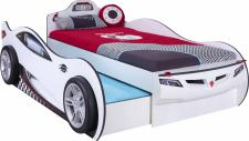 Cilek Coupe Autobett in Weiß mit Gästebett