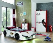 Kinderzimmer Racer Speed Woody mit Autobett 3-teilig
