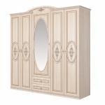 Großer Kleiderschrank mit Spiegel Vasilica 5-türig