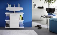 Waschbeckenunterschrank Villy 1-türig in Weiß