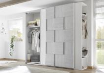 Design Garderobenregal Weiß Grau Space 205cm