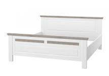 Schlafzimmerbett Leopold in Weiß 180x200