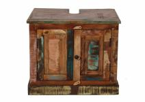 Bad-Unterschrank Melodin mit 2 Türen aus Altholz bunt