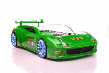 Autobett Fivex in Grün mit LED inkl. Fernbedienung