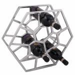 Design Weinregal Cubo für 12 Flaschen Aluminium Silber