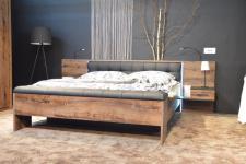 Doppelbett in Schlammeiche Viso 180x200