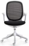 MAGLO Bürostuhl Schwarz / Weiß mit WinTEX Stoff Bezug, Drehstuhl bis 120kg