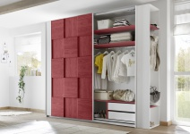 Design Garderobenregal Weiß Rot Space 230cm