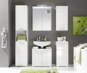 Badezimmer Set Weiß Glanz Broney 5-teilig
