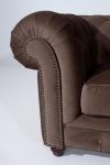 Sofa 2-Sitz Orleans Samtvelours, braun
