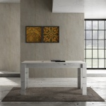Design Esszimmertisch Weiß Eiche Grace 160cm