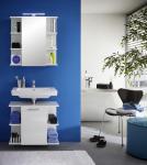 Badezimmer Set Villy 2-teilig in Weiß Hochglanz