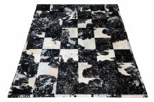 Kuhfell Teppich Minor mit silber-schwarz 200x300