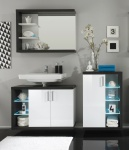 Badezimmer Set Bino Weiß Grau 3-teilig
