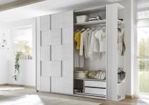 Design Garderobenregal Weiß Grau Space 230cm